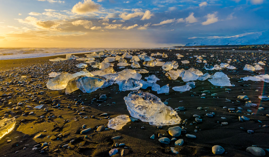 Glacier beach near Jökulsárlón, Iceland 2012. Photos